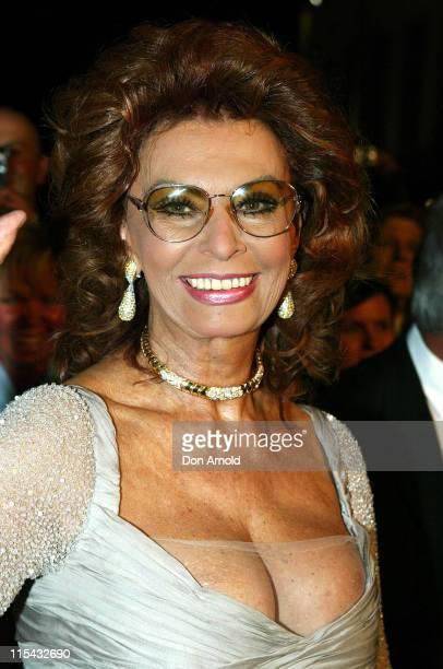 Sophia Loren during 2007 Italian Australian Film Festival Opening Night Red Carpet at Hoyts Cinema Bent Street Entertainment Quarter in Sydney NSW...