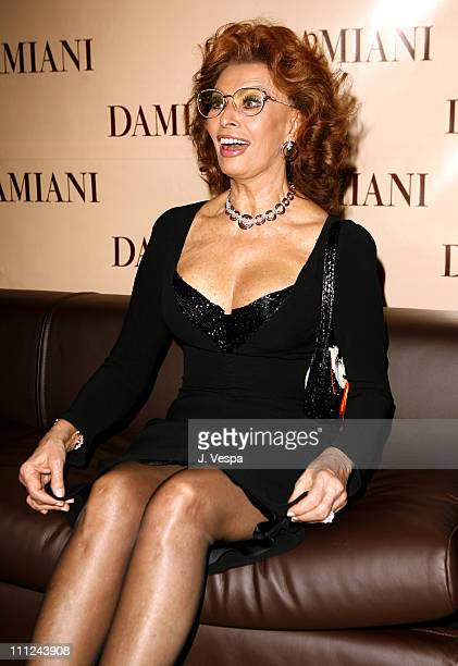 Sophia Loren during Damiani Launches The 'Sophia Loren' Collection at Four Seasons Hotel in Beverly Hills CA United States