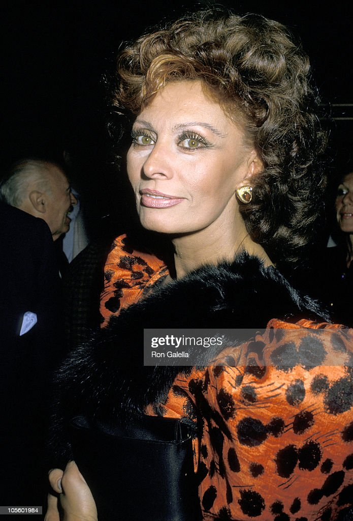 <a gi-track='captionPersonalityLinkClicked' href=/galleries/search?phrase=Sophia+Loren&family=editorial&specificpeople=94097 ng-click='$event.stopPropagation()'>Sophia Loren</a> during Premiere of 'Fortunate Pilgrim' - March 31, 1988 at Cineplex Odeon Cinemas in Century City, California, United States.