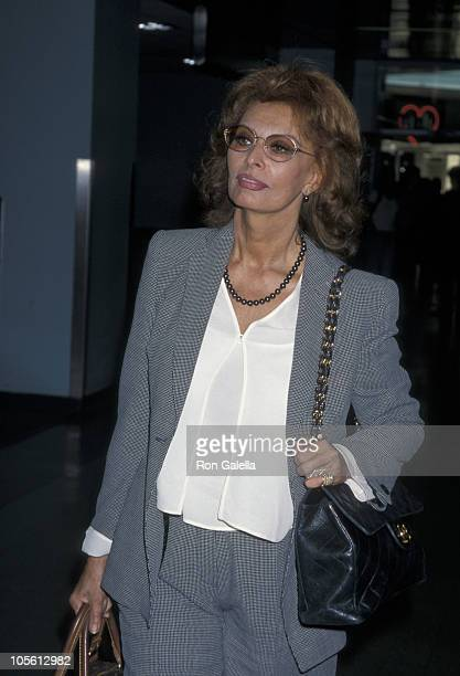 Sophia Loren during Sophia Loren Departing LAX for New York August 4 1998 at Los Angeles International Airport in Los Angeles California United States