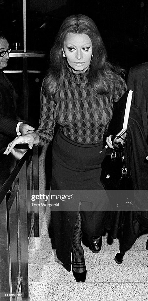 Sophia Loren during Sophia Loren Sighting at JFK Airport - May 17, 1971 at JFK Airport in New York City, United States.