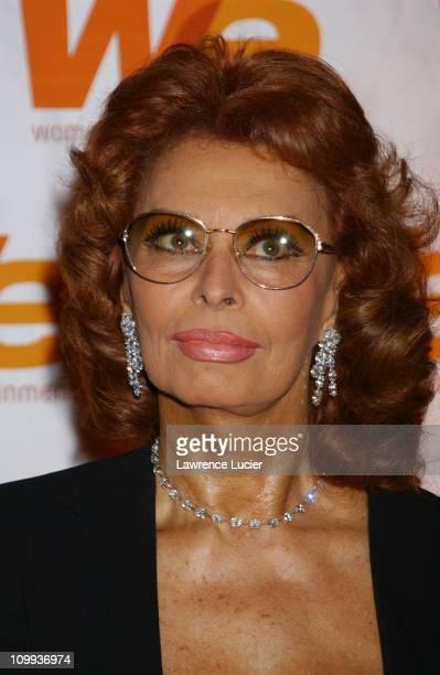 Sophia Loren during WE Network Celebrates Sophia Loren's 100th Film at The Bryant Park Hotel in New York City New York United States