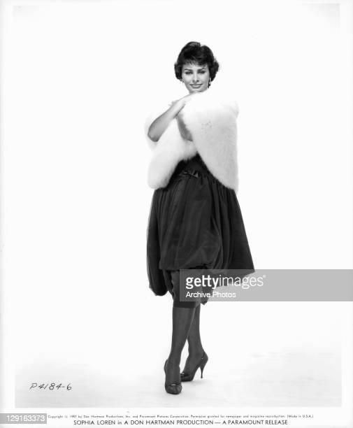 Sophia Loren in publicity portrait for the film 'Houseboat' 1958