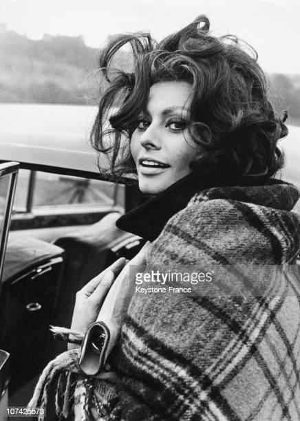 Sophia Loren In South Wales On August 1965