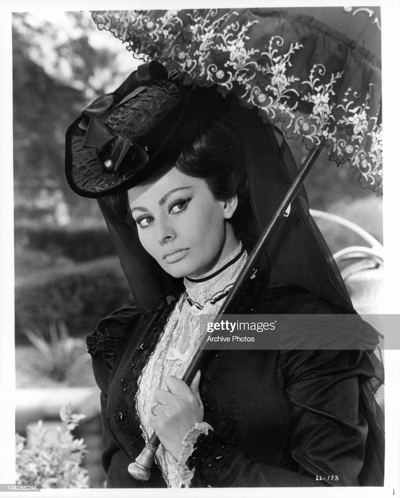 Sophia Loren poses as a windowed Countess in a scene from the film 'Lady L' 1965