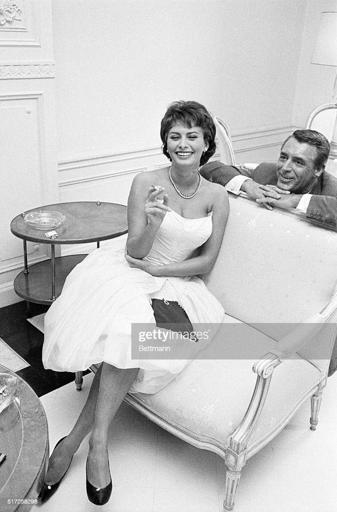 Sophia Loren with Cary Grant
