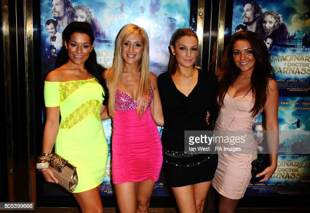 Sophia Port Emily Themis Katerina Themis and Tita Lau of Candy Rock arriving for the UK Film Premiere of The Imaginarium of Doctor Parnassus at the...
