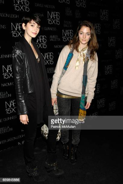 Sophia Sanchez and Cicilia Mendez attend MARC JACOBS and DAPHNE GUINNESS host launch of NARS 15X15 at INDUSTRIA SUPERSTUDIO on November 12 2009 in...