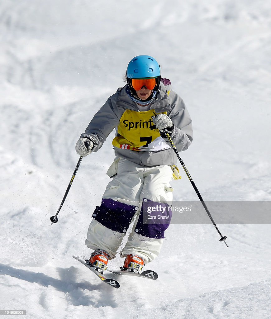 Sophia Schwartz competes in the Ladie's Moguls final at the U.S. Freestyle Moguls National Championship at Heavenly Resort on March 29, 2013 in South Lake Tahoe, California.