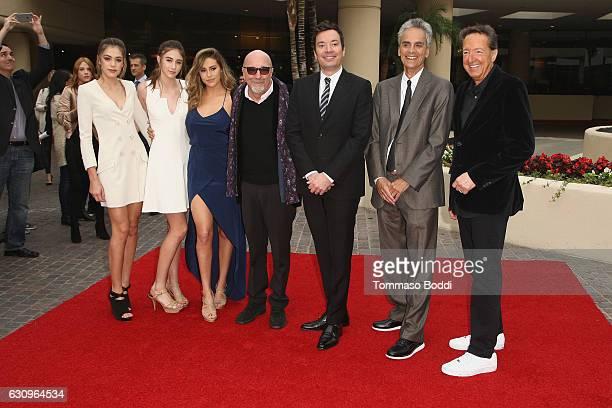 Sophia Stallone Sistine Stallone Scarlet Stallone Jimmy Fallon Barry Adelman Allen Shapiro and Lorenzo Soria attend the 74th Annual Golden Globe...