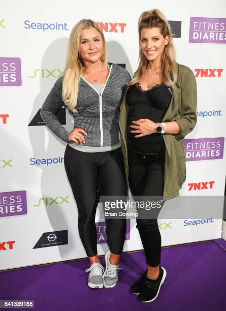 Sophia Thiel and Sarah Nowak attend the launch event for Sophia Thiel's new TV Show 'Fitness Diaries' at Soho House on August 31 2017 in Berlin...