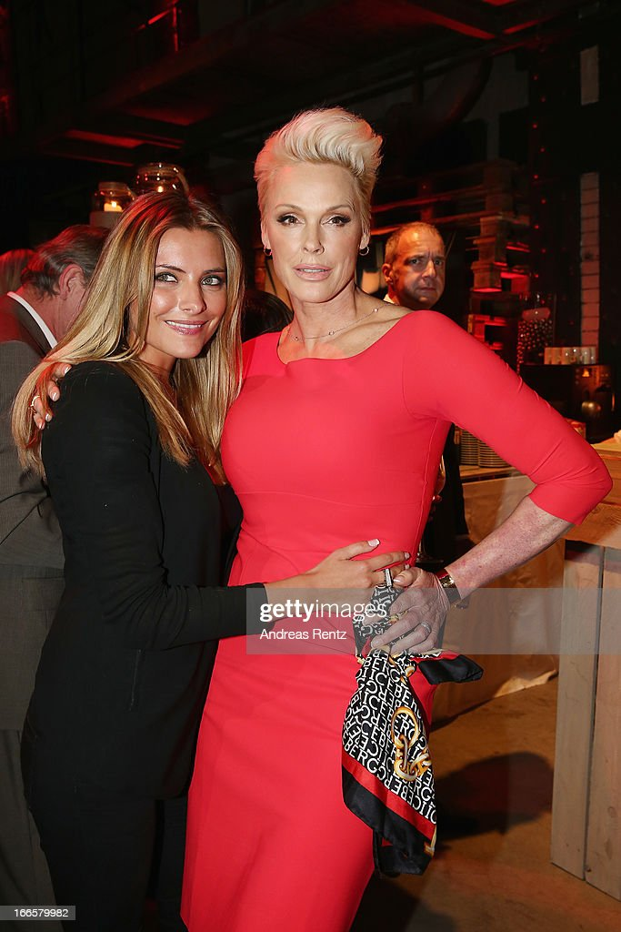 Sophia Thomalla and Brigitte Nielsen attend the Jaguar F-Type short film 'The Key' Premiere at e-Werk on April 13, 2013 in Berlin, Germany.
