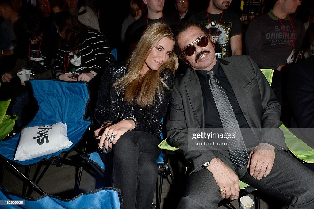 Sophia Thomalla and Kalle Schwensen attend the 'Breaking Bad' Screening Party at the Cosy-Wash on October 1, 2013 in Berlin, Germany.