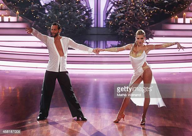 Sophia Thomalla and Massimo Sinato attend the 'Let's Dance Let's Christmas' Show on December 20 2013 in Cologne Germany