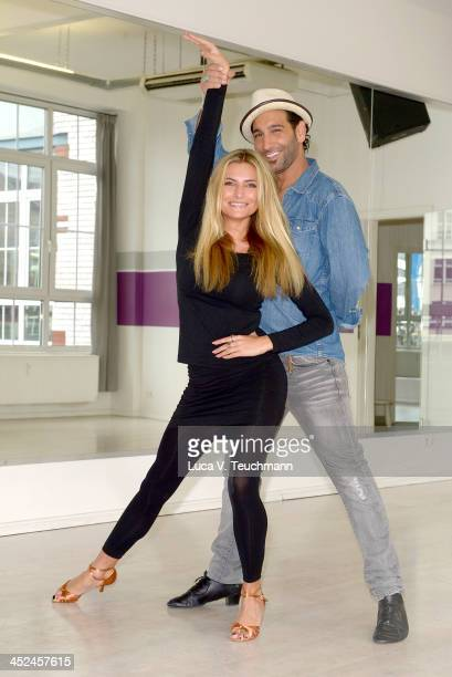 Sophia Thomalla and Massimo Sinato train for 'Let's Dance Let's Christmas' at the D's Dance School on November 29 2013 in Berlin Germany