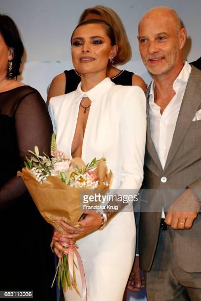 Sophia Thomalla and Simon Licht attend the Felix Burda Award at Hotel Adlon on May 14 2017 in Berlin Germany