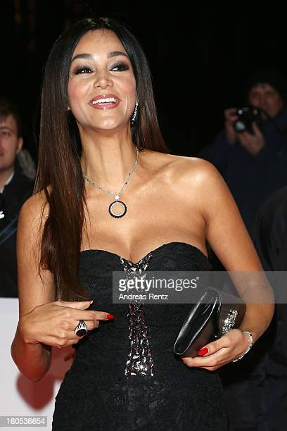 Sophia Thomalla and Verona Pooth attend 'Goldene Kamera 2013' at Axel Springer Haus on February 2 2013 in Berlin Germany