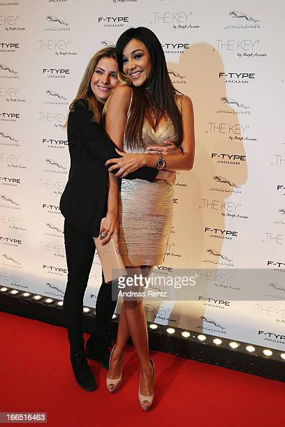 Sophia Thomalla and Verona Pooth attend the Jaguar FType short film 'The Key' Premiere at eWerk on April 13 2013 in Berlin Germany