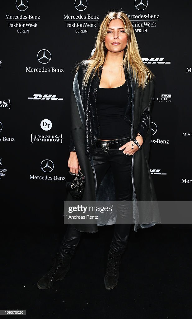 Sophia Thomalla attends Holy Ghost Autumn/Winter 2013/14 fashion show during Mercedes-Benz Fashion Week Berlin at Brandenburg Gate on January 16, 2013 in Berlin, Germany.