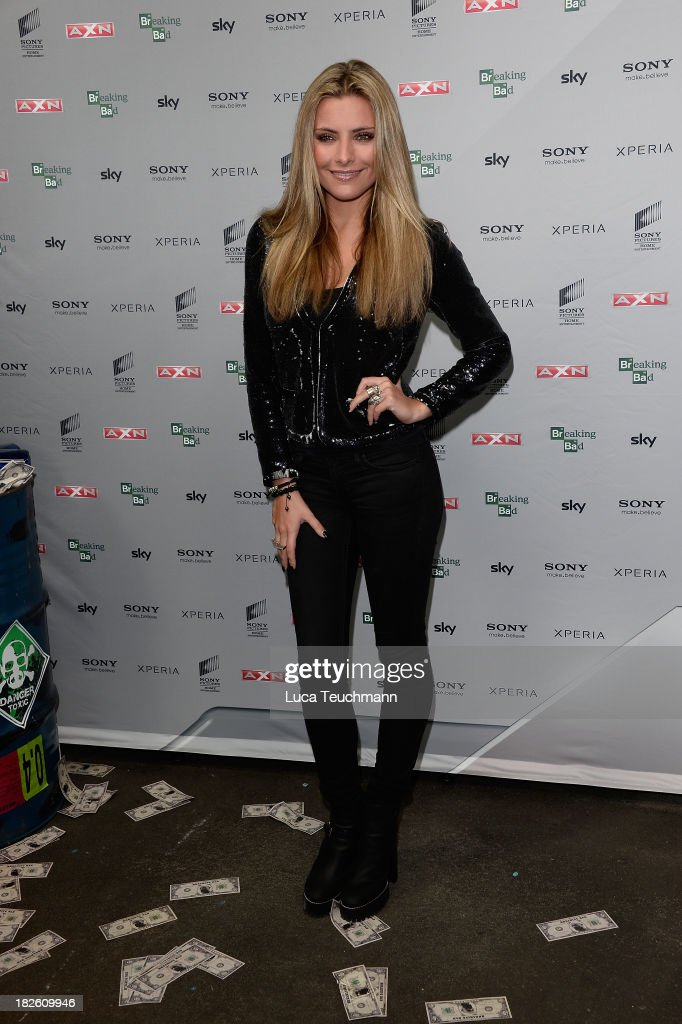<a gi-track='captionPersonalityLinkClicked' href=/galleries/search?phrase=Sophia+Thomalla&family=editorial&specificpeople=3967300 ng-click='$event.stopPropagation()'>Sophia Thomalla</a> attends the 'Breaking Bad' Screening Party at the Cosy-Wash on October 1, 2013 in Berlin, Germany.