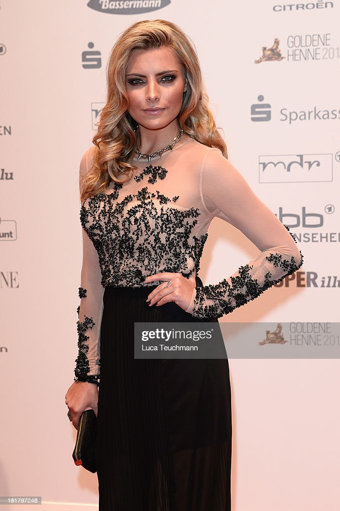 Sophia Thomalla attends the Goldene Henne 2013 at Stage Theater on September 25, 2013 in Berlin, Germany.