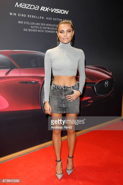 Sophia Thomalla attends the spring cocktail hosted by Mazda and InTouch magazine at Mazda Pop UpStore on April 27 2017 in Duesseldorf Germany
