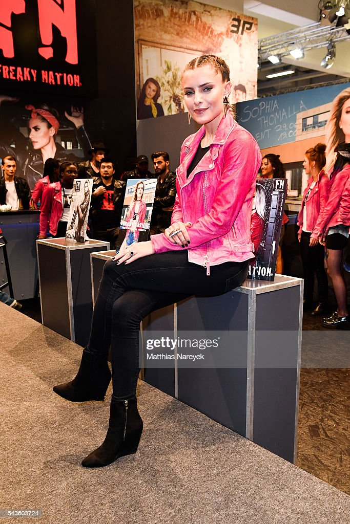 Sophia Thomalla during the Freaky Nation 'COME FLY WITH ME' campaign on June 29, 2016 in Berlin, Germany.