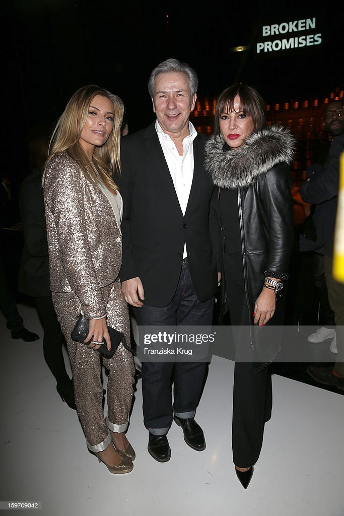 Sophia Thomalla, Klaus Wowereit and Simone Thomalla attend the 'Michalsky Style Nite After Show Party - Mercesdes-Benz Fashion Week Autumn/Winter 2013/14' at Tempodrom on January 18, 2013 in Berlin, Germany.