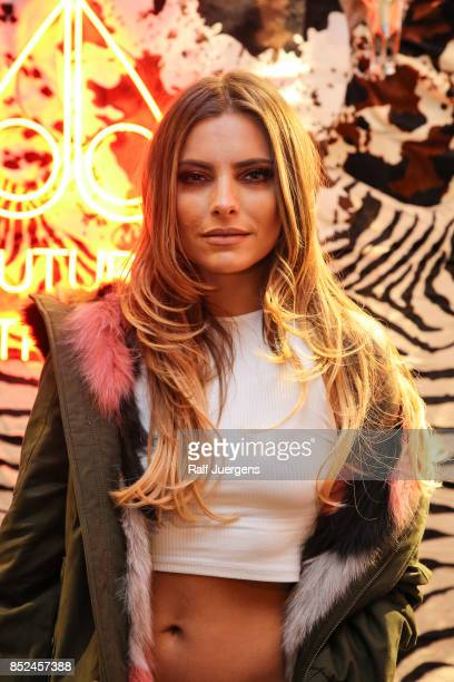Sophia Thomalla poses during the store event 'Moose Knuckles at Breuninger The Future Tribe Party' on September 23 2017 in Duesseldorf German y