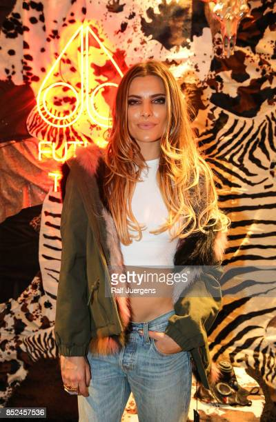 Sophia Thomalla poses during the store event 'Moose Knuckles at Breuninger The Future Tribe Party' on September 23 2017 in Duesseldorf Germany