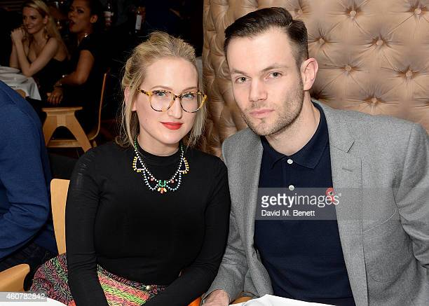 Sophia Webster and Bobby Stockley attend the Rinse FM 20th Birthday Anniversary Dinner at St Martins Lane Hotel on December 22 2014 in London England