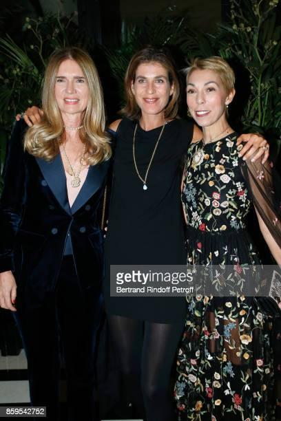 Sophie Agon Vanessa Van Zuylen and Mathilde Favier attend the 'Diner des Amis de Care' at Hotel Peninsula Paris on October 9 2017 in Paris France
