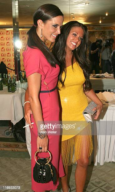 Sophie Anderton and Bianca Gascoigne during TV Quick and TV Choice Awards Press Room at The Dorchester in London Great Britain