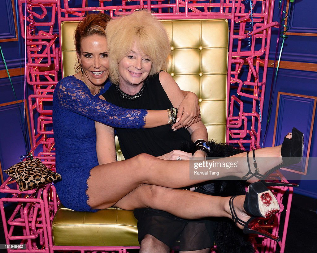 Sophie Anderton and Lauren Harries attend the National Trust gala opening of the Big Brother House held at Elstree Studios on September 26, 2013 in Borehamwood, England.