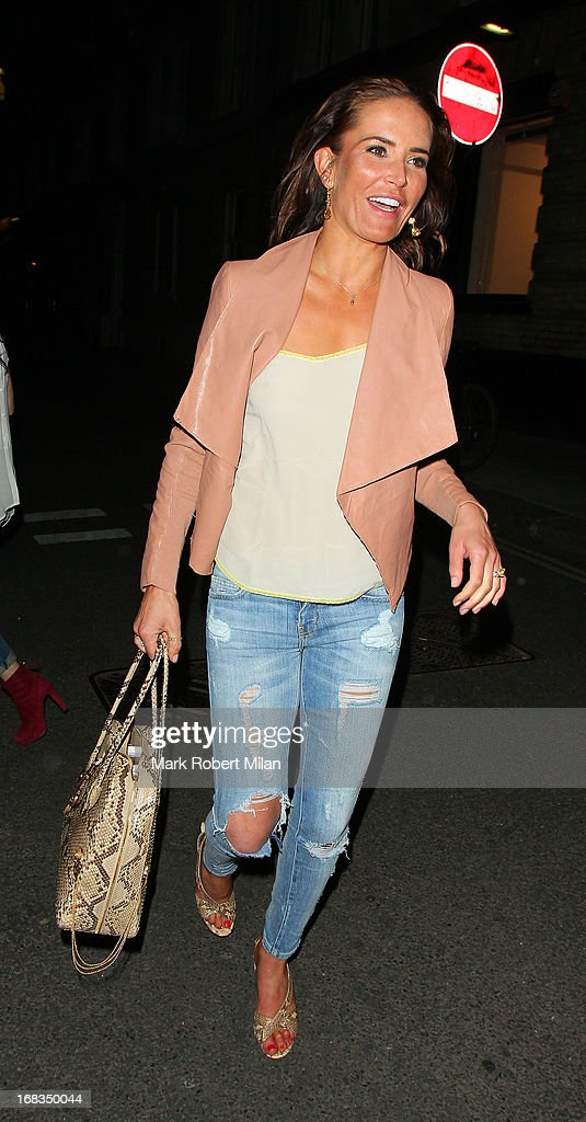 Sophie Anderton at the Strand Gallery on May 8, 2013 in London, England.