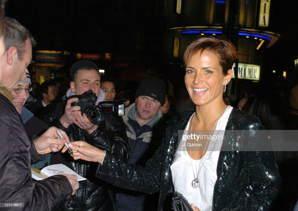 Sophie Anderton during 'Rhythm City Volume 1' London DVD Screening at Rex Cinema & Bar in London, Great Britain.