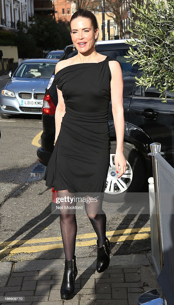 Sophie Anderton seen arriving at the Tatiana's Hair Extensions - Annual Anniversary Party on April 18, 2013 in London, England.