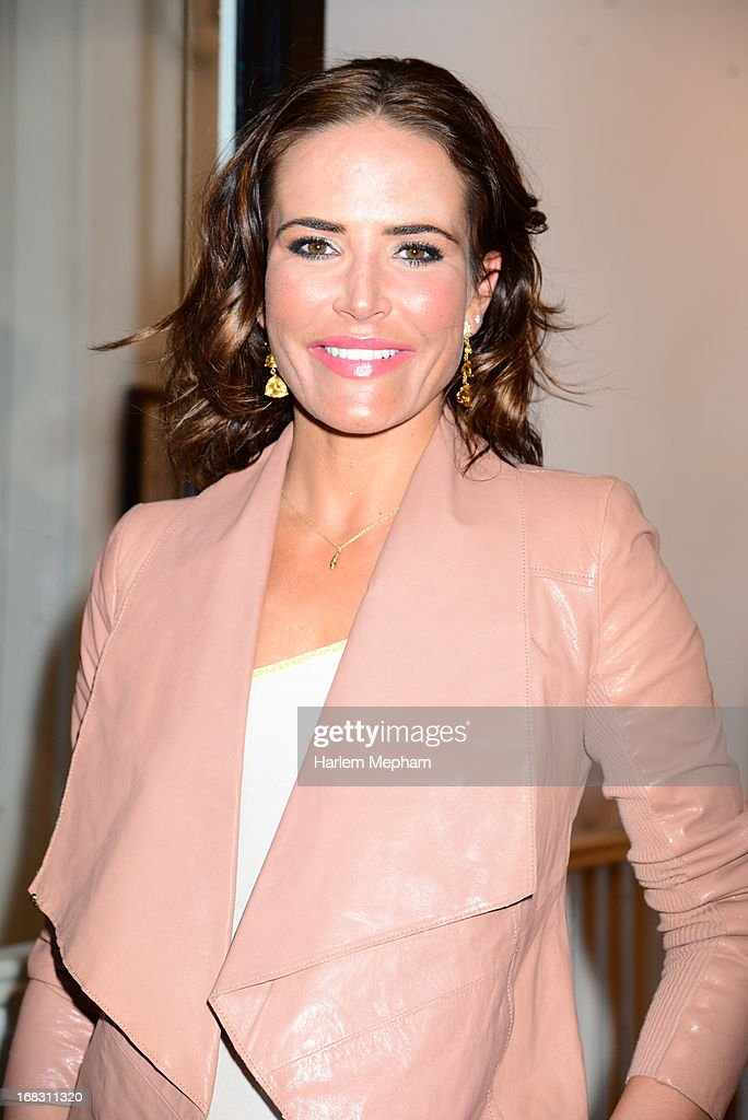 Sophie Anderton sighted at the Strand Gallery for an exhibition by Debbi Clark on May 8, 2013 in London, England.