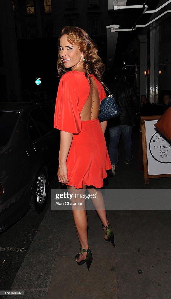 Sophie Anderton sighting at the Easilocks launch Soho Sanctum Hotel on July 9, 2013 in London, England.