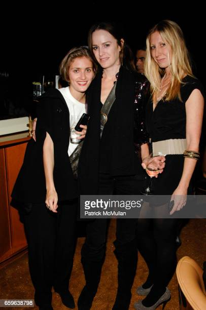 Sophie Aschauer Tatyana Murray and Heidi Kelso attend Andre Balazs Saturday Night Party at Boom Boom Room on October 10 2009 in New York City