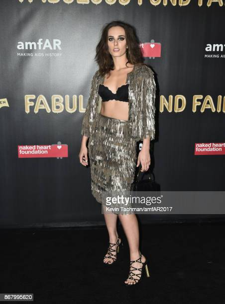 Sophie Auster at the 2017 amfAR The Naked Heart Foundation Fabulous Fund Fair at the Skylight Clarkson Sq on October 28 2017 in New York City