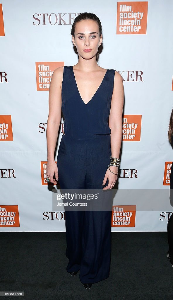 Sophie Auster attends the 'Stoker' New York Screening at The Film Society of Lincoln Center Walter Reade Theatre on February 27 2013 in New York City