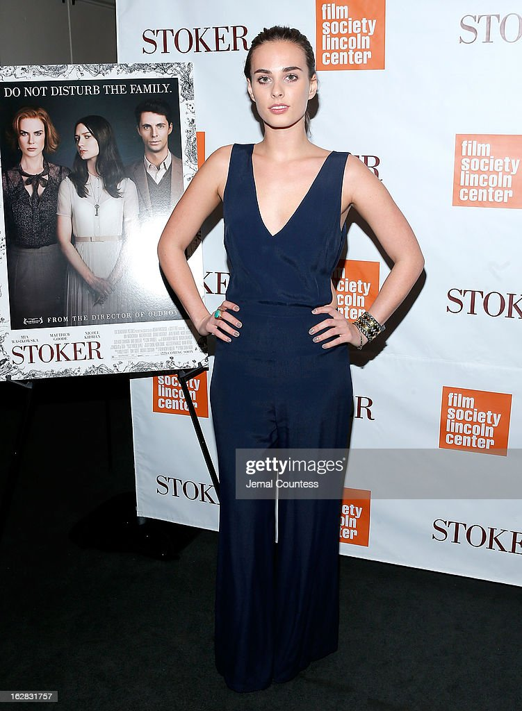 Sophie Auster attends the 'Stoker' New York Screening at The Film Society of Lincoln Center, Walter Reade Theatre on February 27, 2013 in New York City.