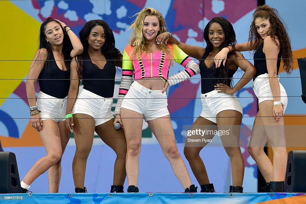 Sophie Beem performs with her dancers during Arhut Ashe Kids' Day prior to the start of the 2016 US Open at USTA Billie Jean King National Tennis...