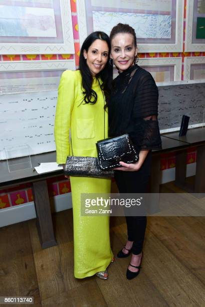Sophie Bonvin and Guest attend the launch of The Collector Geneva's Sophie Bonvin Code Collection in Collaboration with artist Bill Claps at Crosby...