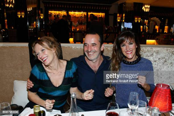 Sophie Broustal Bruno Todeschini and Victoria Bedos attend 'Suite Michele Morgan Opening' at Hotel Majestic Barriere on October 7 2017 in Cannes...