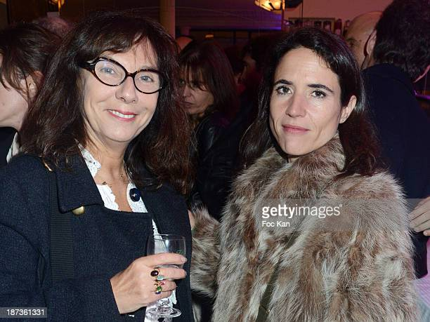 Sophie Calle and Mazarine Pingeot attend the Prix de Flore 2013' Ceremony Cocktail At Cafe De Flore on November 7 2013 in Paris France
