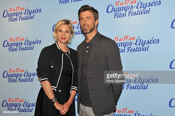 Sophie Cattani and Kim Rossi Stuart attend Day 7 of the Champs Elysees Film Festival on June 17 2014 in Paris France
