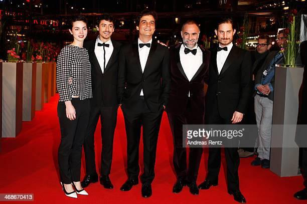 Sophie Charlotte Conrad Jesuita Barbosa Karim Ainouz Wagner Moura and Clemens Schick attend the 'Praia do futuro' premiere during 64th Berlinale...