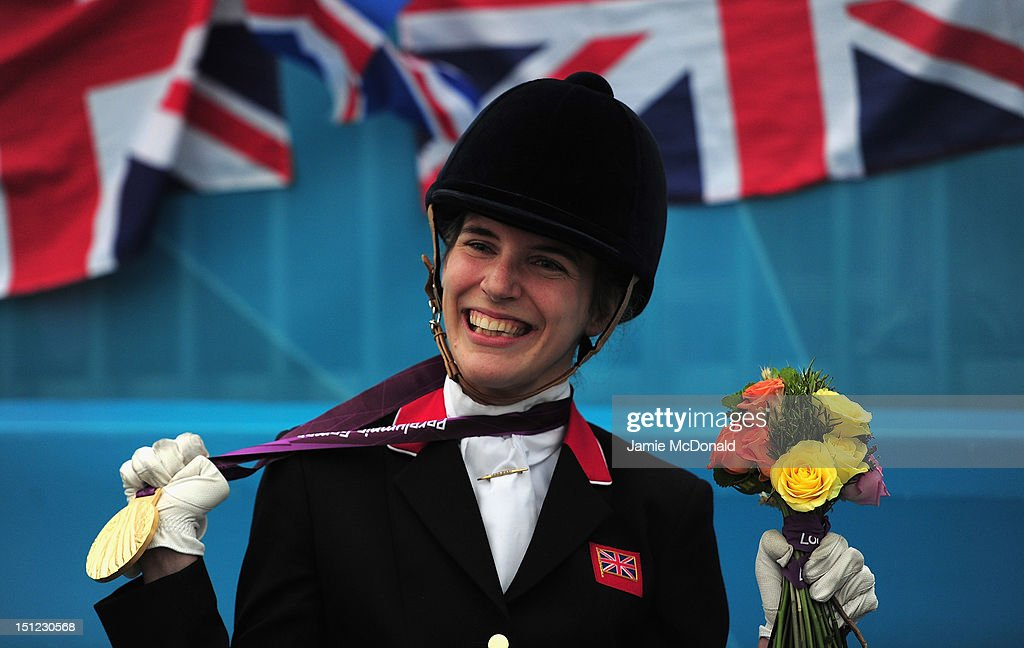 Sophie Christiansen of Great Britain wins Gold during the Equestrian Dressage Individual Freestyle Test - Grade 1a on day 6 of the London 2012 Paralympic Games at Greenwich Park on September 4, 2012 in London, England.